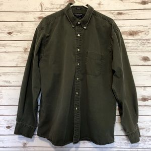 Washed Twill 100% Cotton Button Down Shirt